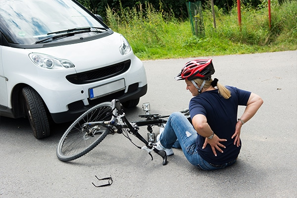 woman injured in bicycle accident