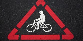 Señal de rendimiento de bicicleta
