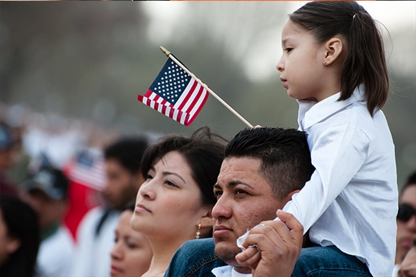 immigrant family seeking citizenship